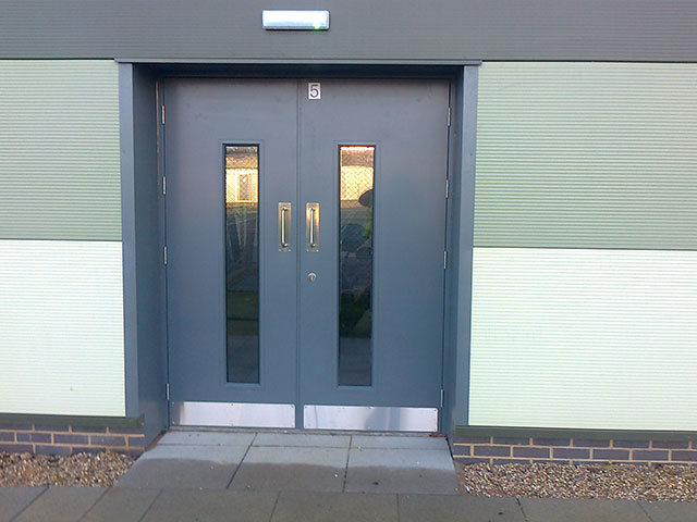 Commercial Steel Doors : Commercial steel door sets