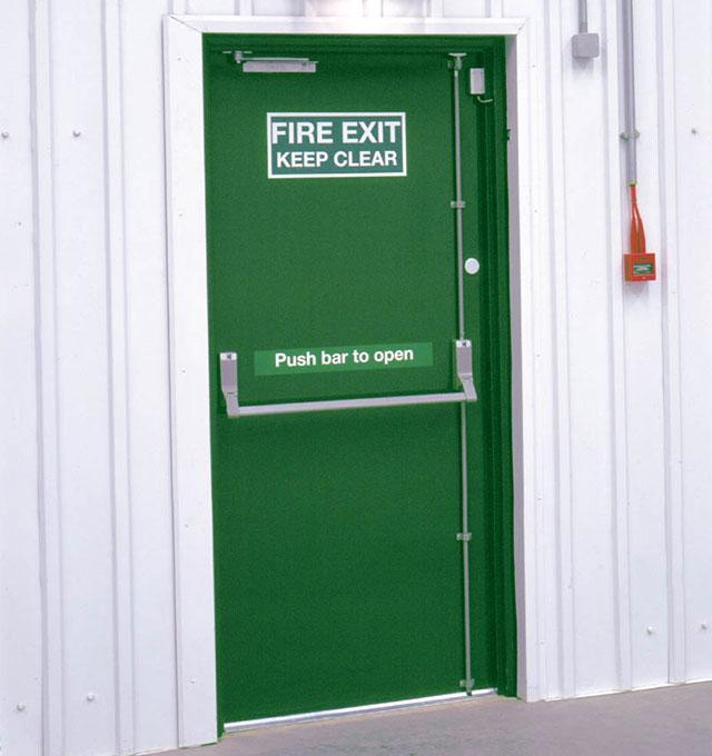Fire Escape Door : Exit doors sc st g johns u sons
