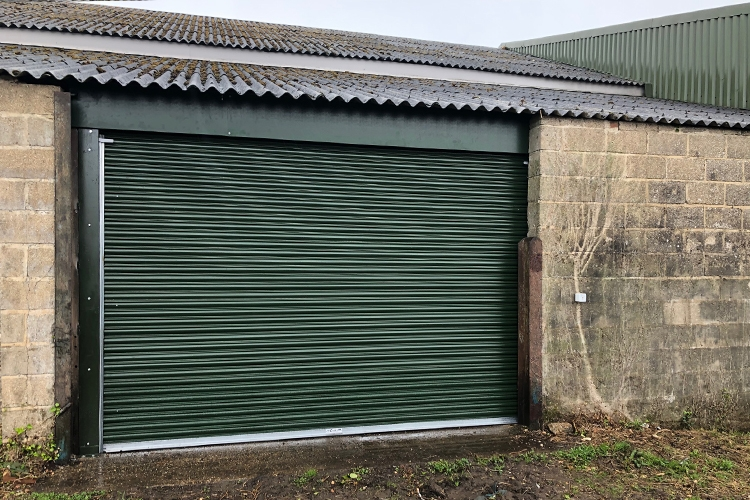 Titan Roller Shutter Door in Juniper Green
