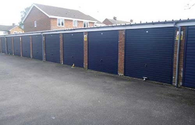 Up and over garage door installation for Norfolk landlord