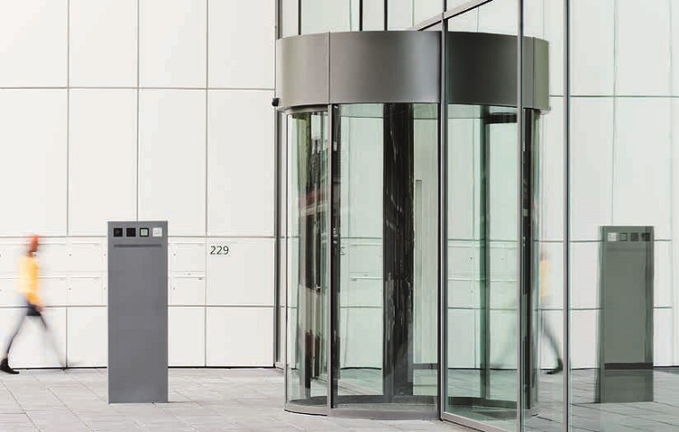 Geze Automatic Curved Sliding Doors with secure Entrance
