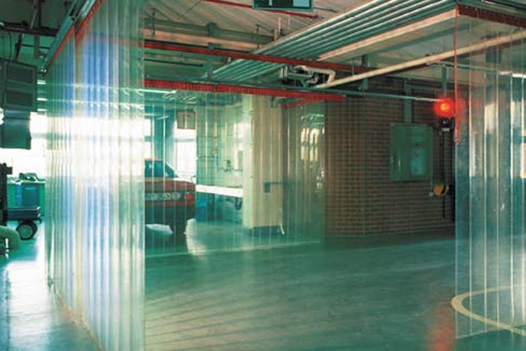 PVC strip curtains for factories and warehouses