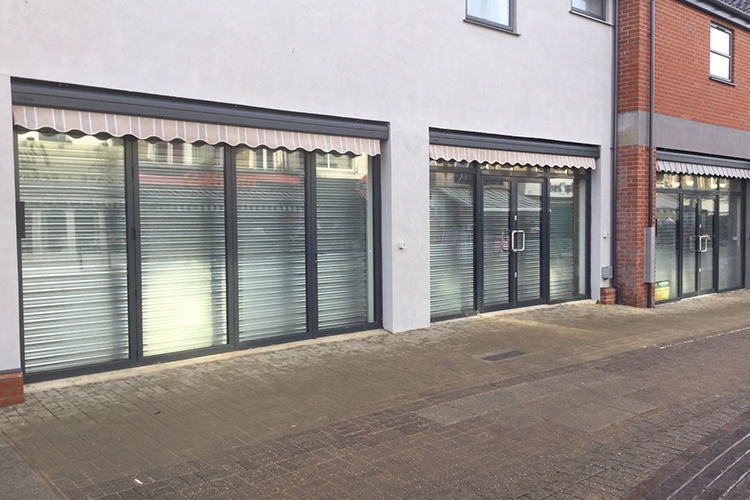 Steelguard roller shutters for new shops in Great Yarmouth