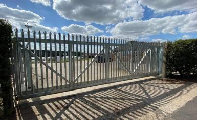 Cantilever Automatic Gate Installed by Cooks Doors in Norfolk