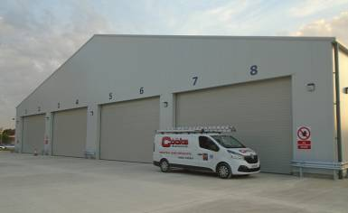 Cooks Doors install four large industrial sectional doors at Kettle Foods