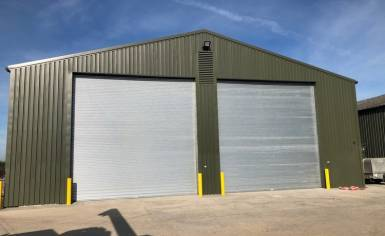titan doors for Woodbridge grain store
