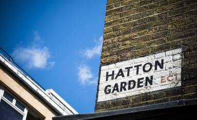 Hatton Garden street sign.