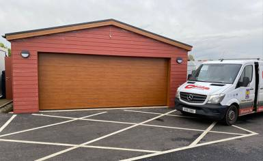 Oak Sectional Garage Door by Cooks